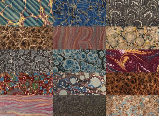 15 Vintage Marbled Paper Textures From Very Old Books