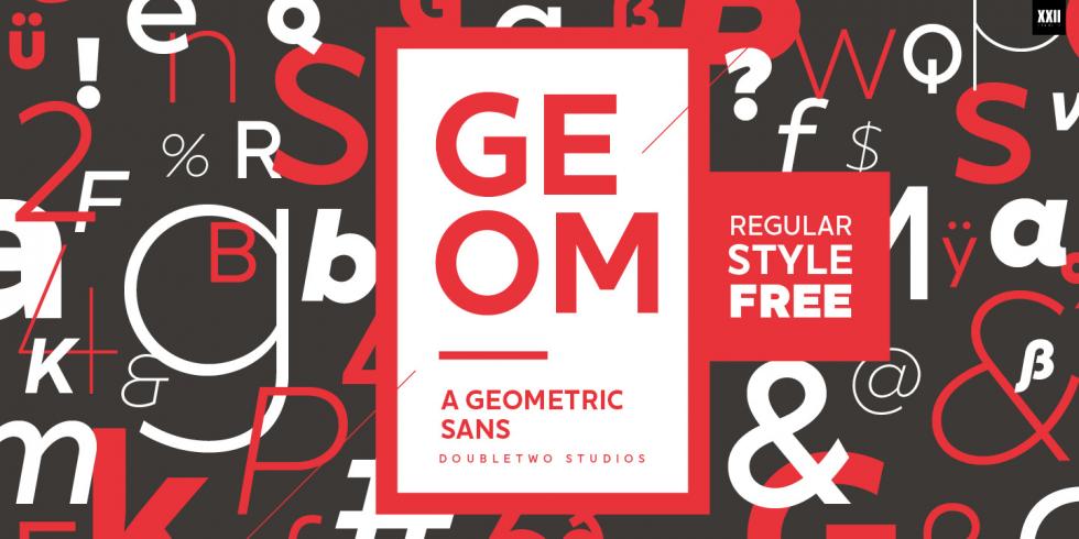 XXII Geom font