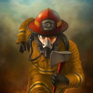 Create an Awesome Firefighter in Action Painting Using Photoshop