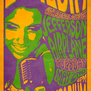 Create a retro concert poster