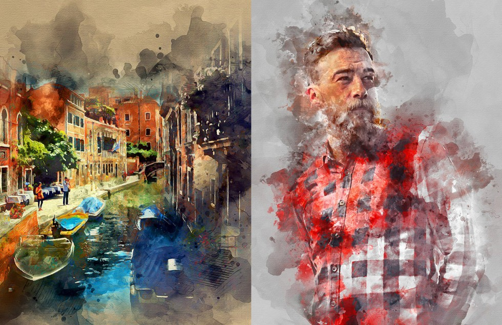 5 ways to create Photoshop watercolor effects, explained and compared.