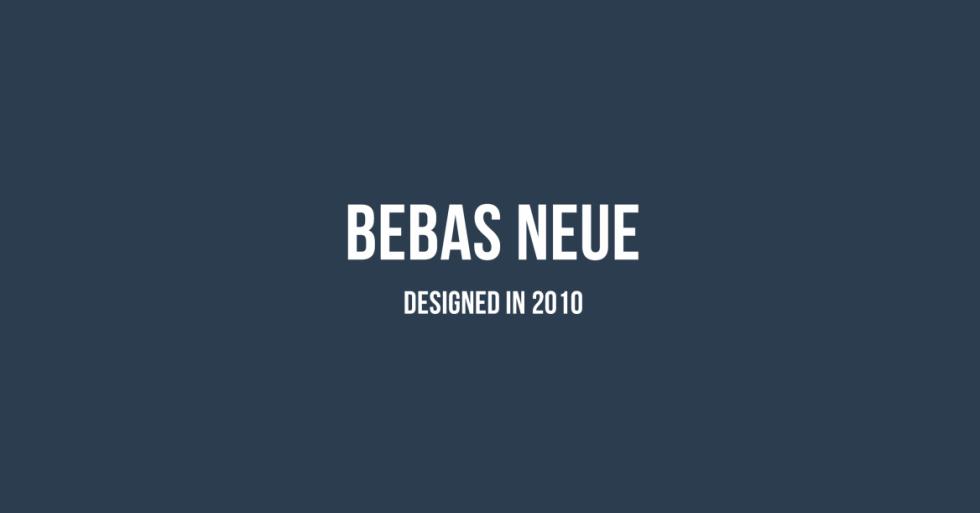Bebas Neue Free Font