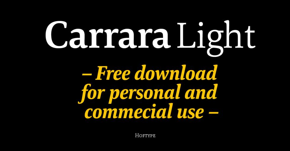 Download Free Carrara Light Designer Font by Hoftype