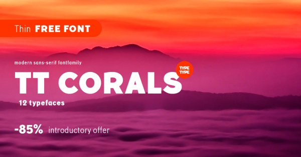 Download TT Corals Thin Free Designer Font From TypeType Foundry