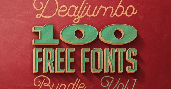 Download an awesome bundle of 100 high quality free fonts