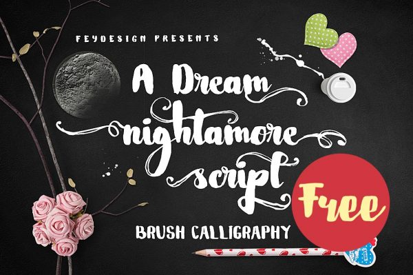 Nightamore-Brush-Free-Font
