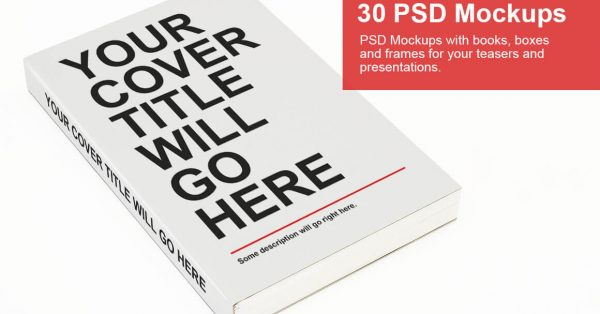 Download 30 Books, Boxes, and Frames PSD Mock-ups