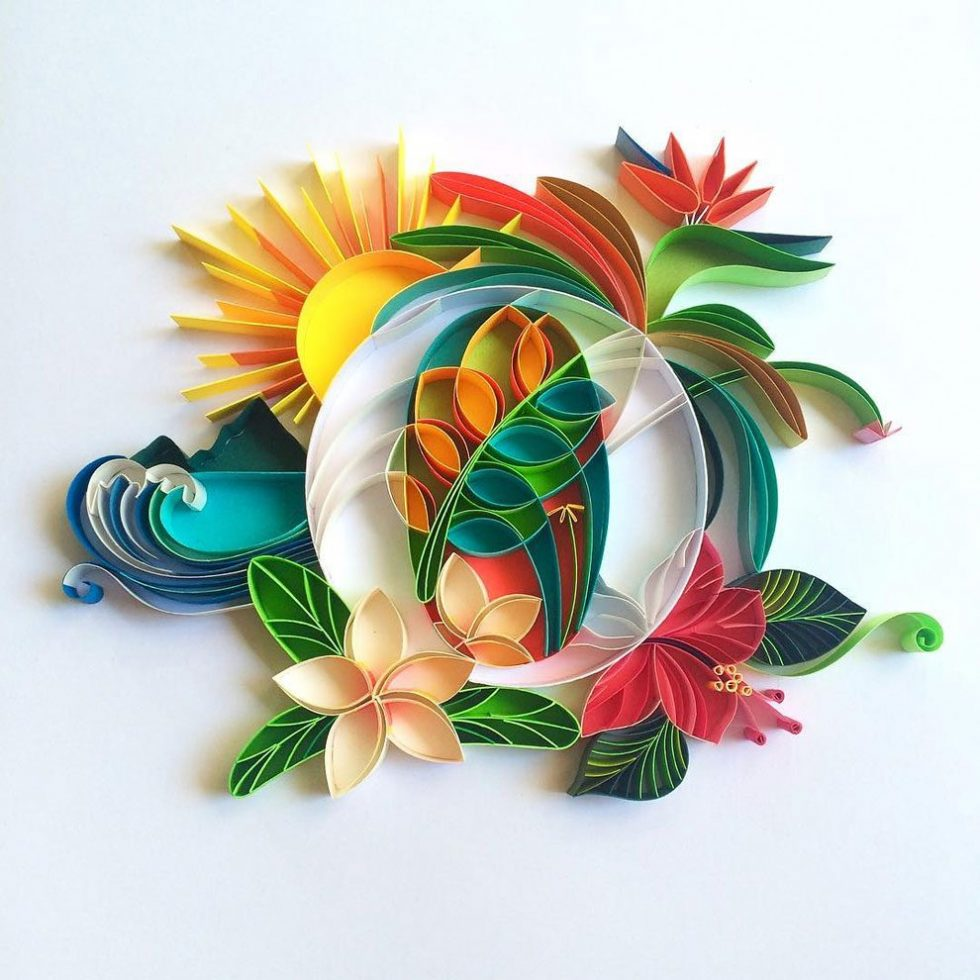 Talented Designer Creates Beautiful Art From Colored Pieces of Paper