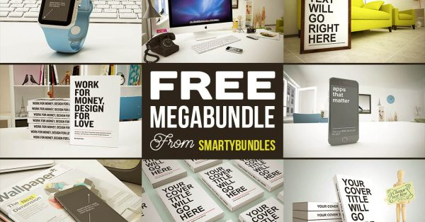 Download an amazing megabundle of graphics and mockups files for free