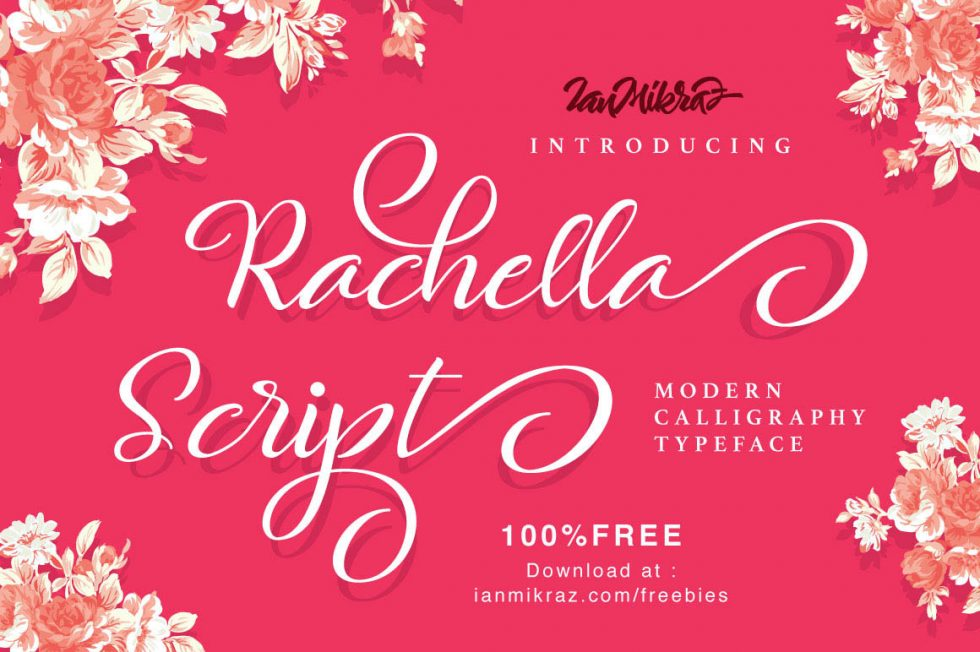 Download Rachella Free Script Font