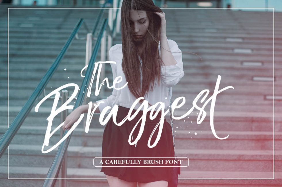 Download The Braggest Brushcript Font