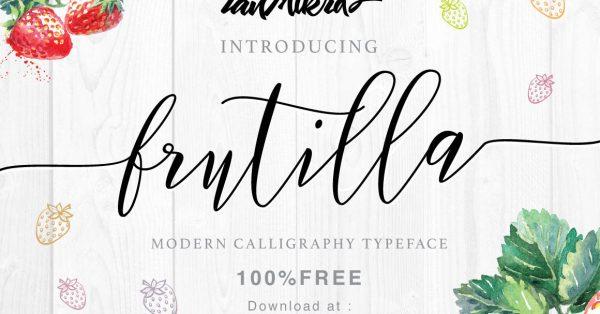 Download Free Frutilla Script Font