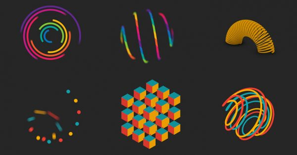 Colorful captivating geometric animations by Florian de Looij