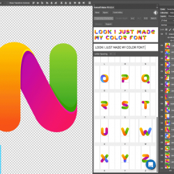 Create beautiful Color Fonts easily in Photoshop with Fontself plugin