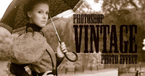 Create a realistic old vintage photo effect in Photoshop
