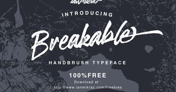 Download Breakable Free Typeface