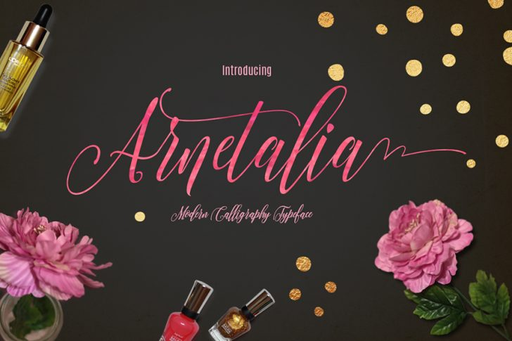 Download Beautiful Arnetalia Free Script Font