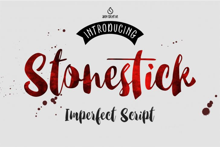 Download Stonestick Free Brushscript Font